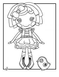 Кукла с глазами пуговицами Раскраски для девочек онлайн