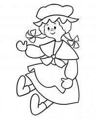 Кукла с косичками Раскраски для девочек онлайн