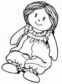Кукла в комбинезоне Раскраски для девочек онлайн