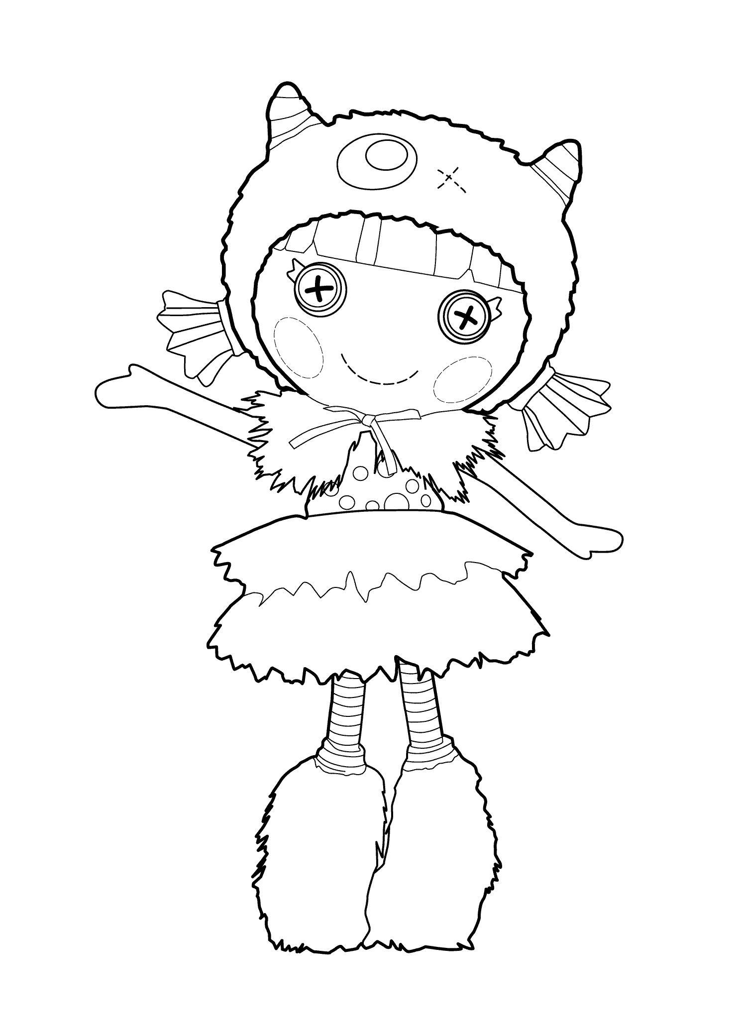 Кукла в шапочке Раскраски для девочек онлайн