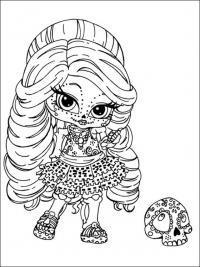Кукла монстр Раскраски для девочек бесплатно