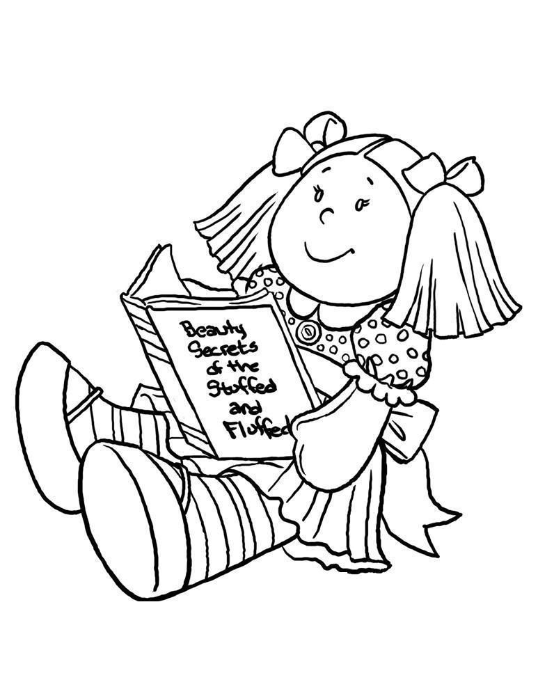 Кукла с книжкой Раскраски детские с цветами