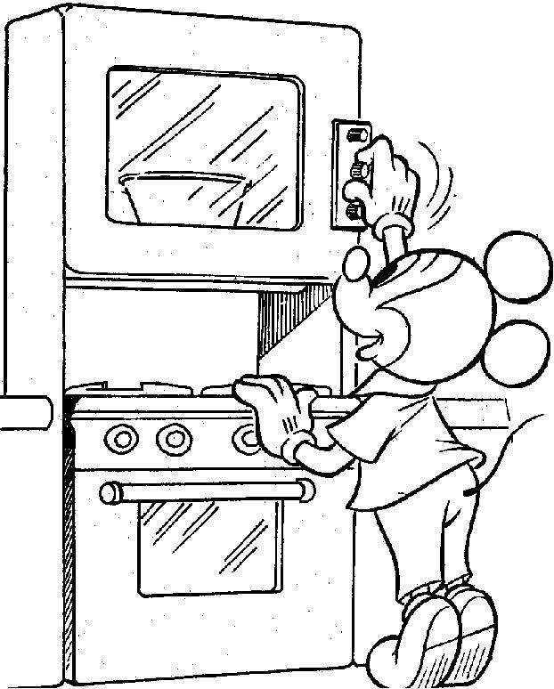 Кухня микки мауса Раскраски для девочек скачать
