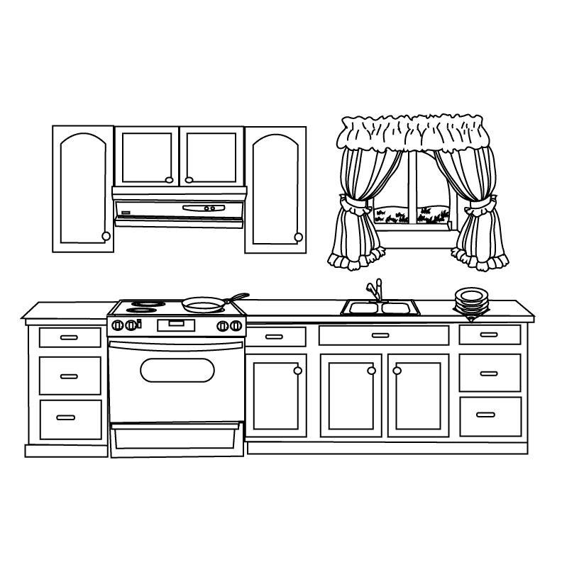 Кухня Раскраски для девочек скачать