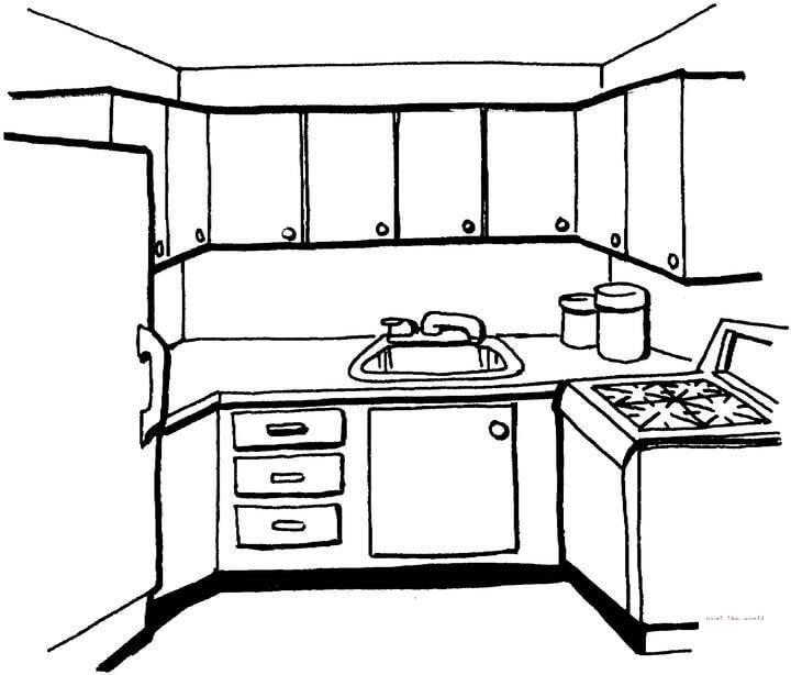 Маленькая кухня Раскраски для девочек скачать