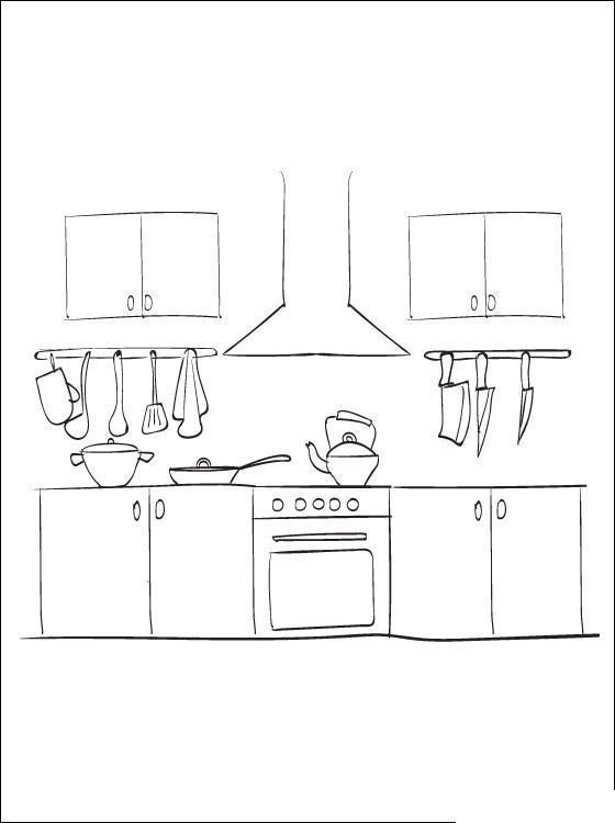Кухня и посуда Раскраски для девочек онлайн