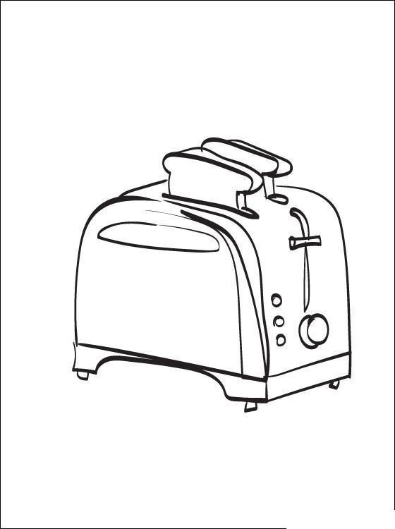 Тостер Раскраски для девочек онлайн