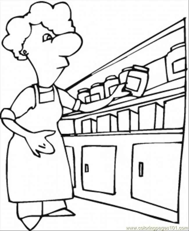 Возле шкафчика на кухне Раскраски для девочек онлайн