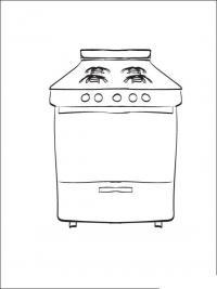 Кухонная плита Раскраски для девочек скачать