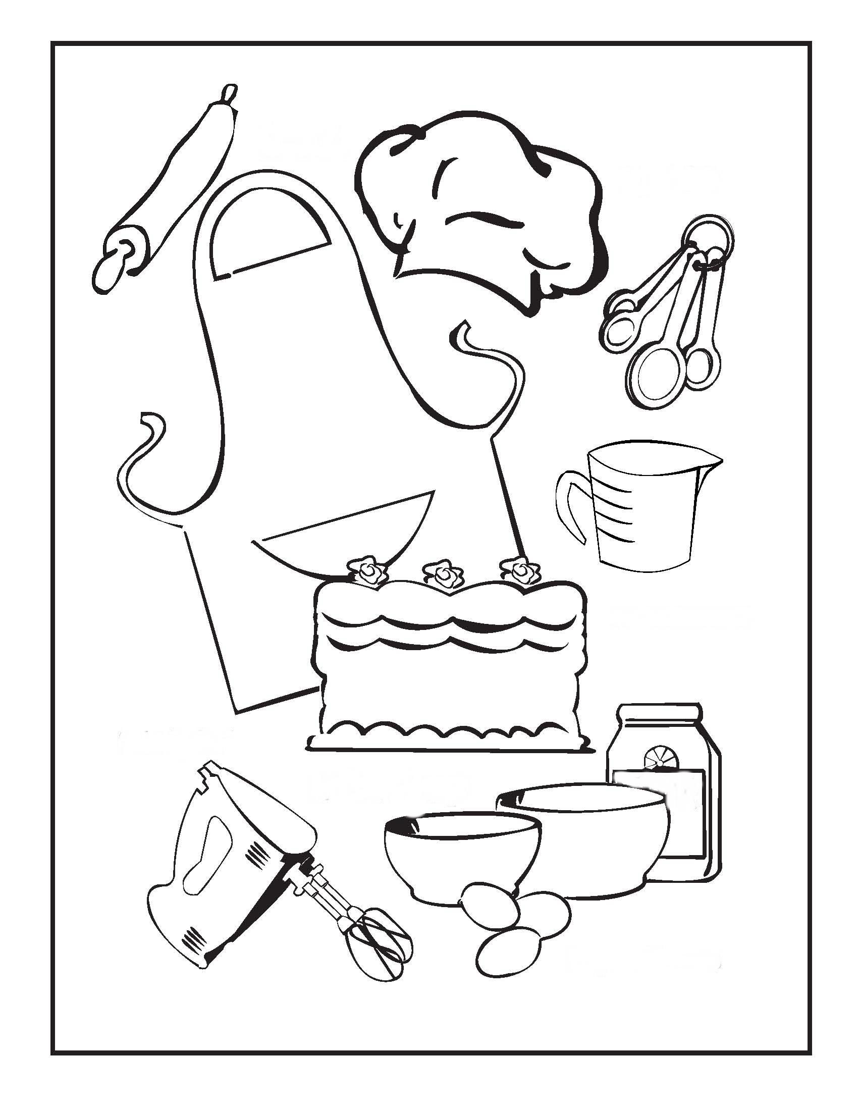 Для кухни Раскраски для девочек онлайн
