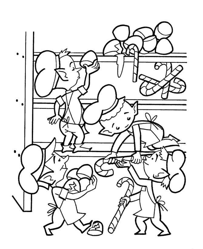 Кухня эльфов Раскраски цветочки  для девочек