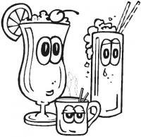 Напитки Раскраски для девочек онлайн