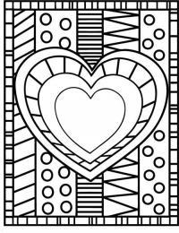 Узор в центре с сердцем Новые раскраски с цветами
