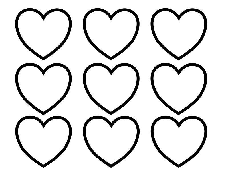 Сердечко раскраска
