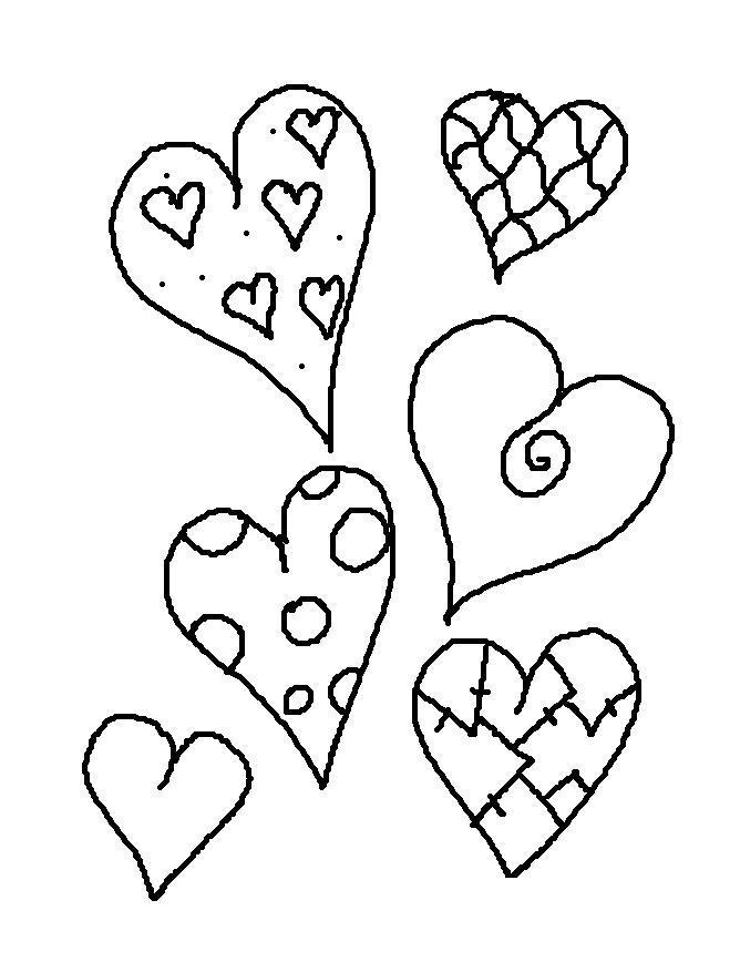 Разные сердца Раскраски цветы онлайн скачать и распечатать