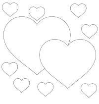 Два влюбленных сердца Раскраски цветы онлайн скачать и распечатать