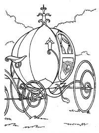 Круглая карета Раскраски для девочек онлайн