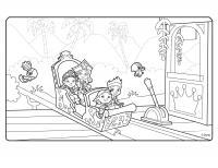 Карета атракцион Раскраски для девочек онлайн