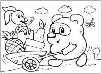 Винни пух и пяточек Раскраски для девочек бесплатно