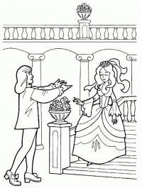 Принц и золушка Раскраски для девочек бесплатно