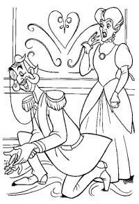 Момент из мультфильма про золушку Раскраски для девочек бесплатно
