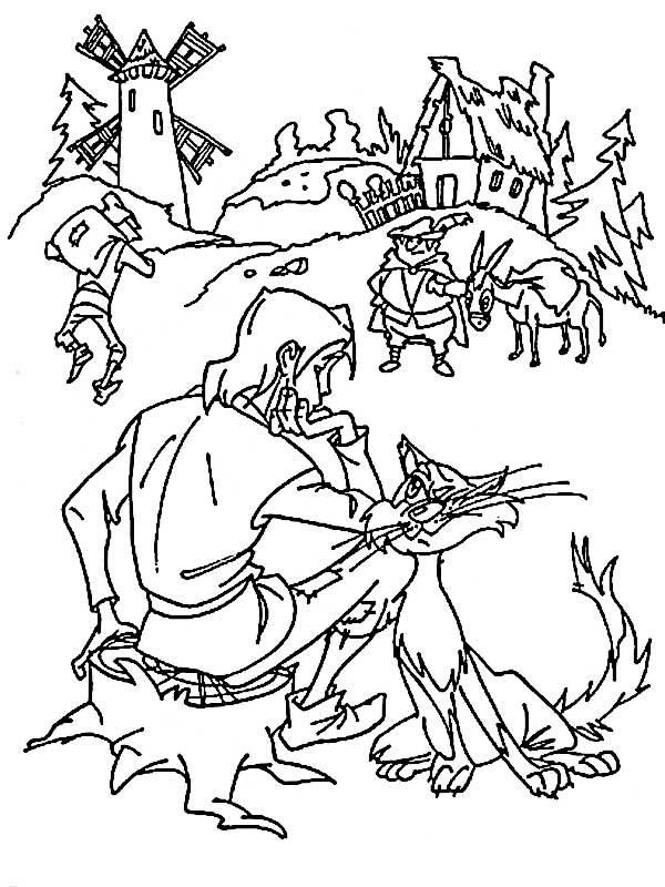 Сын мельника и кот Раскраски для девочек бесплатно