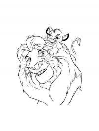Лев со львенком Раскраски для девочек бесплатно