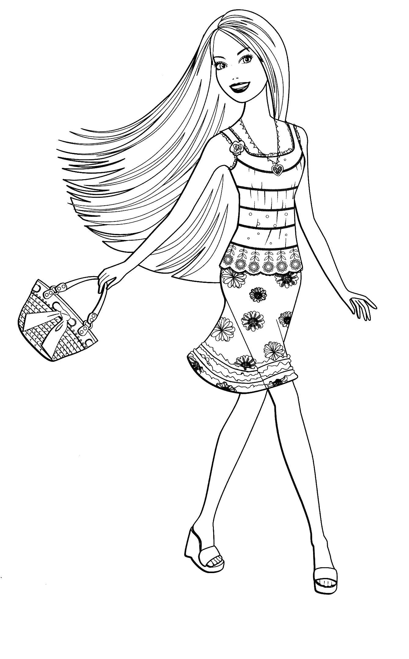 Барби Раскраски для девочек бесплатно