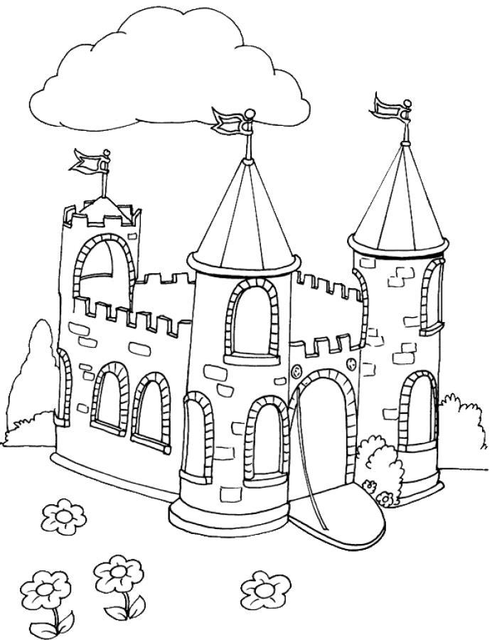Замок принцессы Раскраски для девочек онлайн