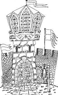 Замок для принцессы Раскраски для девочек онлайн