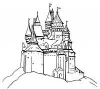 Замок принцессы на холме Раскраски для девочек онлайн