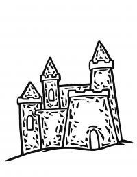 Замок из песка Раскраски для девочек онлайн