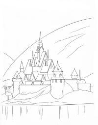 Замок принцессы среди холмов Раскраски для девочек онлайн