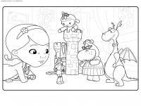 Игрушечный замок принцессы Раскраски для девочек онлайн