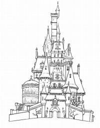 Высокий замок принцессы Раскраски для девочек онлайн