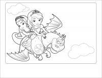 Принцессы на драконе Раскраски для девочек распечатать