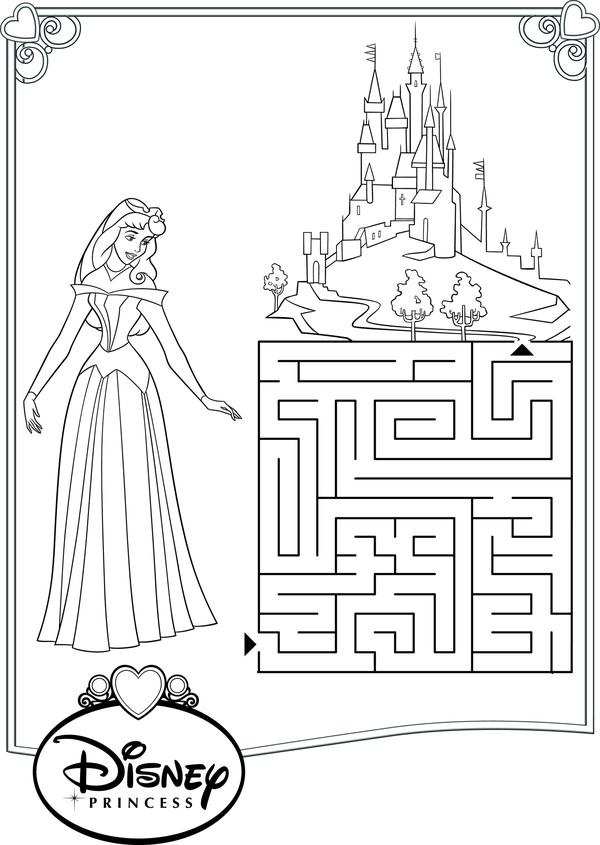 Помоги принцесс добраться до замка Раскраски для девочек онлайн