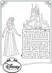 Помоги принцесс добраться до замка Раскраски для девочек скачать