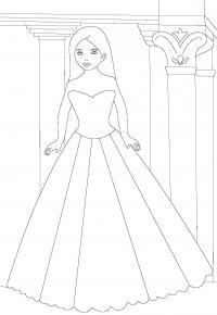 Принцесса в замке Раскраски для девочек онлайн