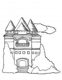 Замок с башнями Раскраски для девочек онлайн