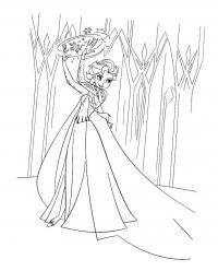 Замок принцессы эльзы Раскраски для девочек онлайн