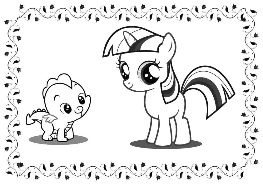 Раскраска для детей пони онлайн бесплатно