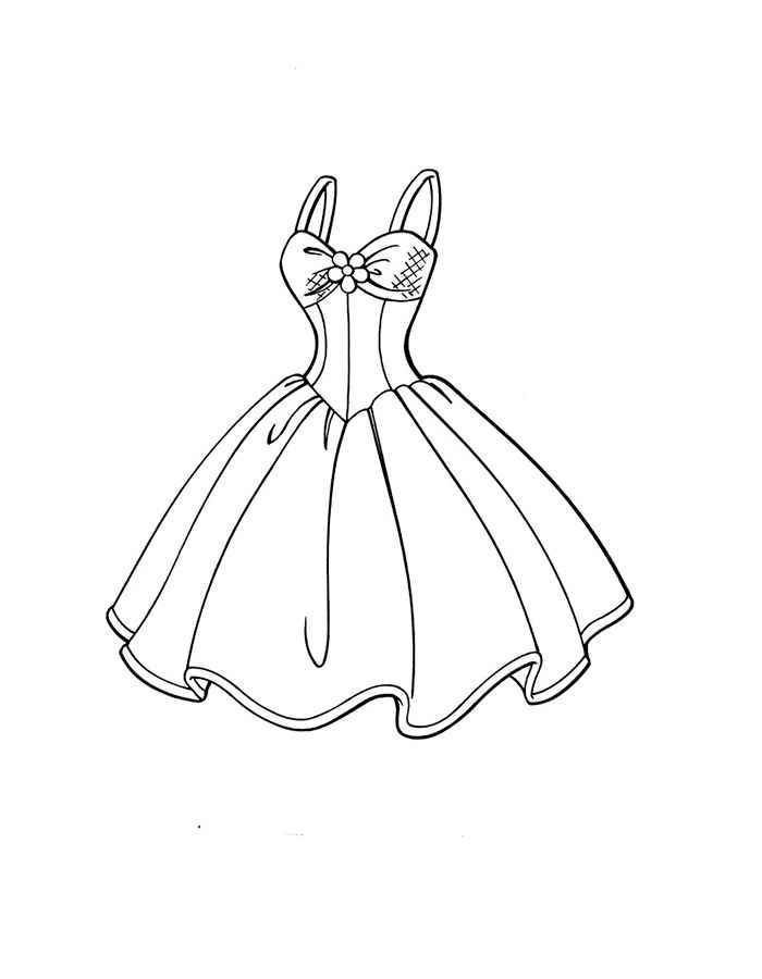 Платье с цветком Раскраски цветов скачать