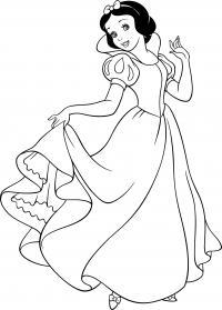 Белоснежка в платье Раскраски для девочек бесплатно