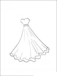 Бальное платье Раскраски для девочек распечатать