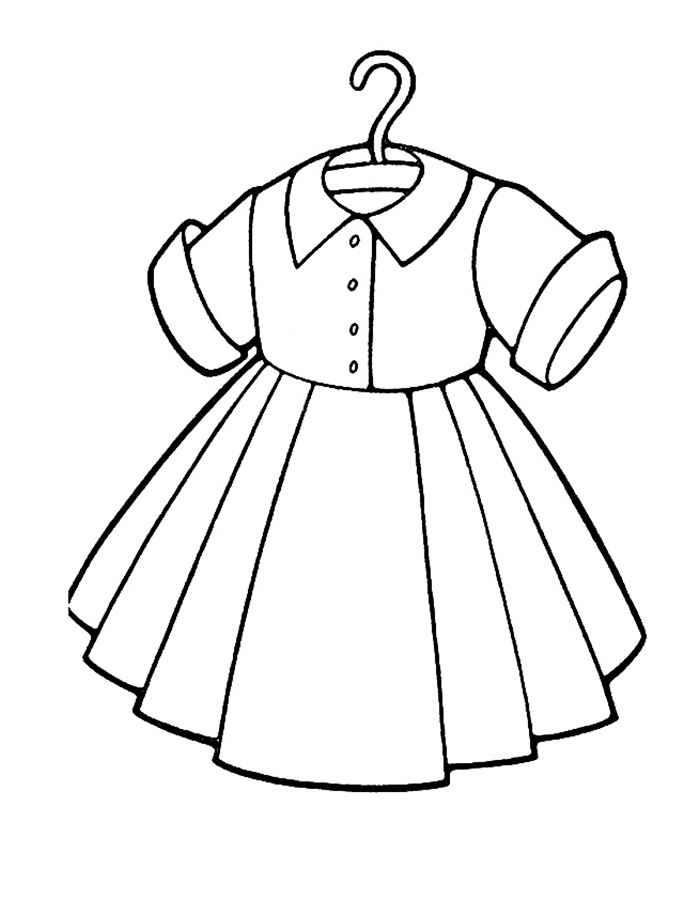 Простое платье на вешалке Раскраски для девочек распечатать