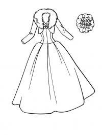 Свадебное платье Раскраски цветов скачать
