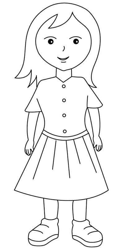 Платье для куклы Раскраски для девочек бесплатно