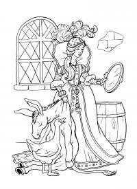 Принцесса с ослиной шкурой Раскраски для девочек скачать