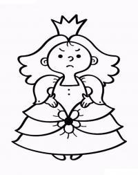 Принцесса в модном платье Раскраски для девочек скачать